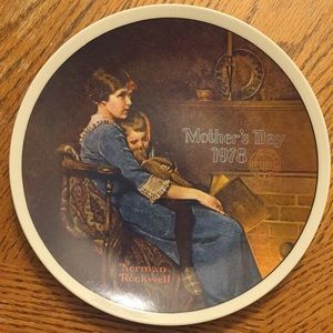 """Norman Rockwell Collective Plate- """"Bedtime"""""""